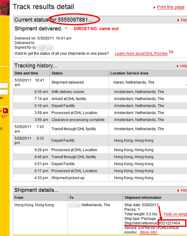 tracking dhl cargo